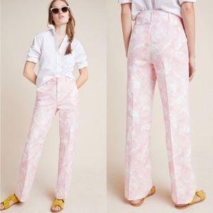 Anthropologie | Pink White Tie Dye Jamie Trousers